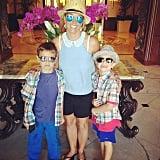 Britney Spears had a stylish brunch with her boys, Sean and Jayden. Source: Instagram user britneyspears