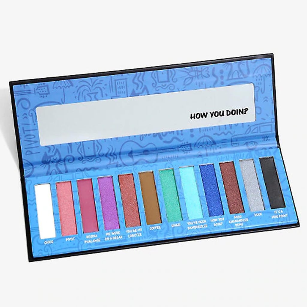 "If you've ever wanted to re-create Rachel Green's makeup from Friends, Hot Topic is making it happen with its new Friends Eye Shadow Palette ($17) and Central Perk Makeup Brush Set ($25). The colourful palette features 12 Friends-themed shades, including ""How You Doin'?"" blue, ""We Were on a Break"" purple, Unagi green, Duck silver, Chick white, Pivot pink, ""You've Been Bamboozled"" aqua, and more.  If you're looking to complete the collection, Hot Topic's red-tipped Friends makeup brushes are also available and include a powder brush, an angled eye shadow brush, a blending brush, and an eye shadow brush, all stored away in an adorable Central Perk container. We think Rachel, Monica, and Phoebe would approve. Keep scrolling to shop the adorable Friends beauty products ahead.       Related:                                                                                                           Attention Friends Fans: You Can Buy Monica's Turkey Mask Just in Time For Halloween"