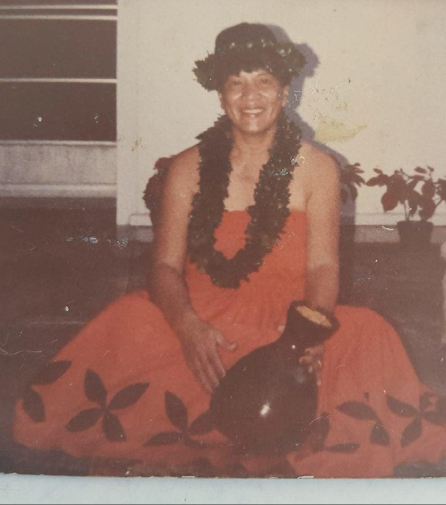 My grandma, a beautiful hula dancer.