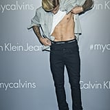 Justin Bieber and Kendall Jenner at Calvin Klein Event