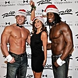 Dancing With the Stars dancer Karina Smirnoff held mistletoe over her head as she attended a Chippendales show in 2010.