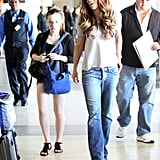 Kate Beckinsale and Lily Sheen made their way through LAX.