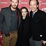 Kellan Lutz met up with Winona Ryder and Peter Sarsgaard for the premiere of Experimenter.