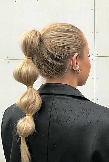 Bubble-Ponytail Tutorial and Hairstyle Inspiration