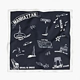 "J.Crew Destination Italian Silk Scarf in ""Manhattan"" Print"