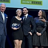 Tom later posed for a photograph with Prince Charles, along with Homesense Young Achiever of the Year winner Daisy McDonnell.