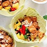 Thai Mango Cabbage Wraps With Crispy Tofu and Peanut Sauce