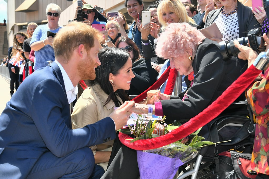 Image result for meghan and harry australia old lady