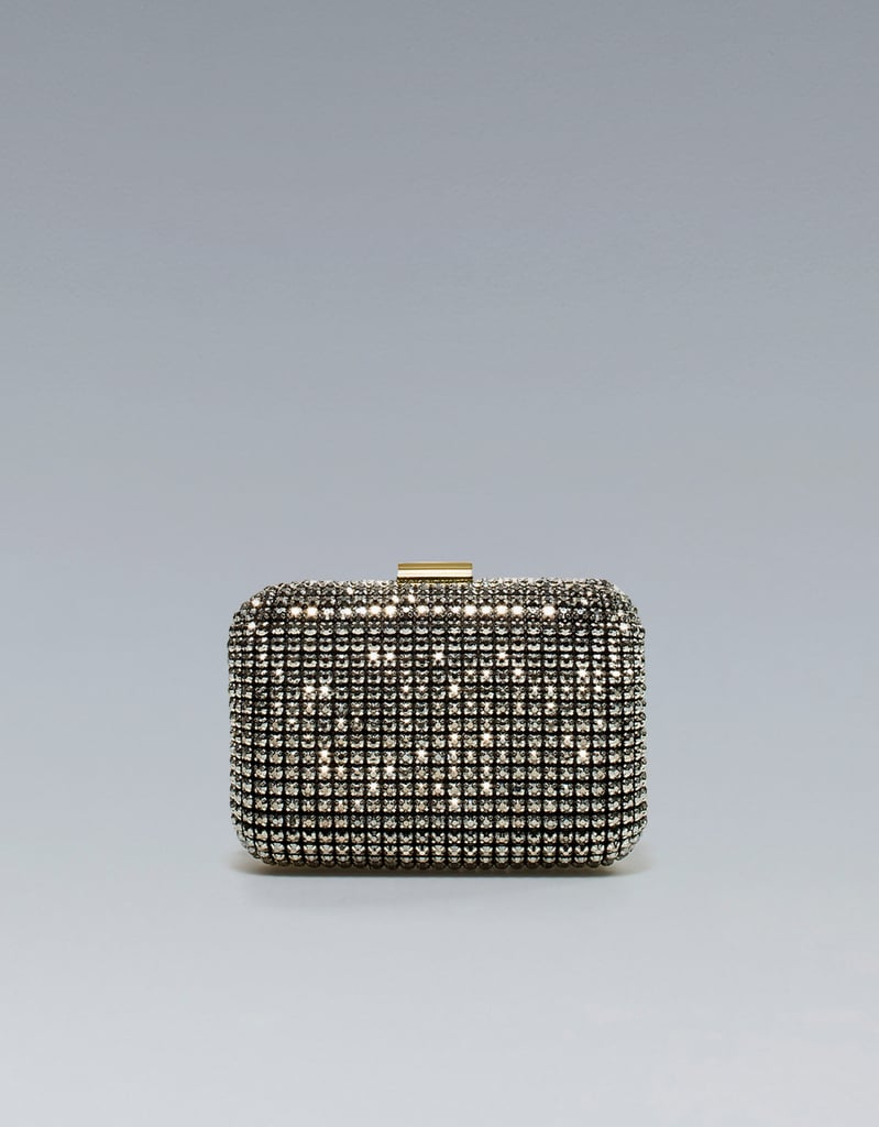 The megawatt shine on this Zara Jeweled Box Clutch ($90) could up the ante on just about anything in your closet — we like to think of it as the perfect NYE clutch.