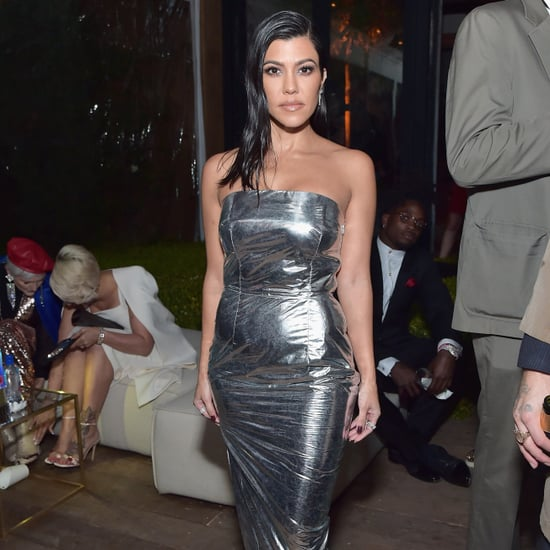 Kourtney Kardashian Silver Milly Dress at GQ Party