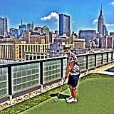 Joe Jonas played a round of miniature golf in NYC. Source: Instagram user adamjosephj