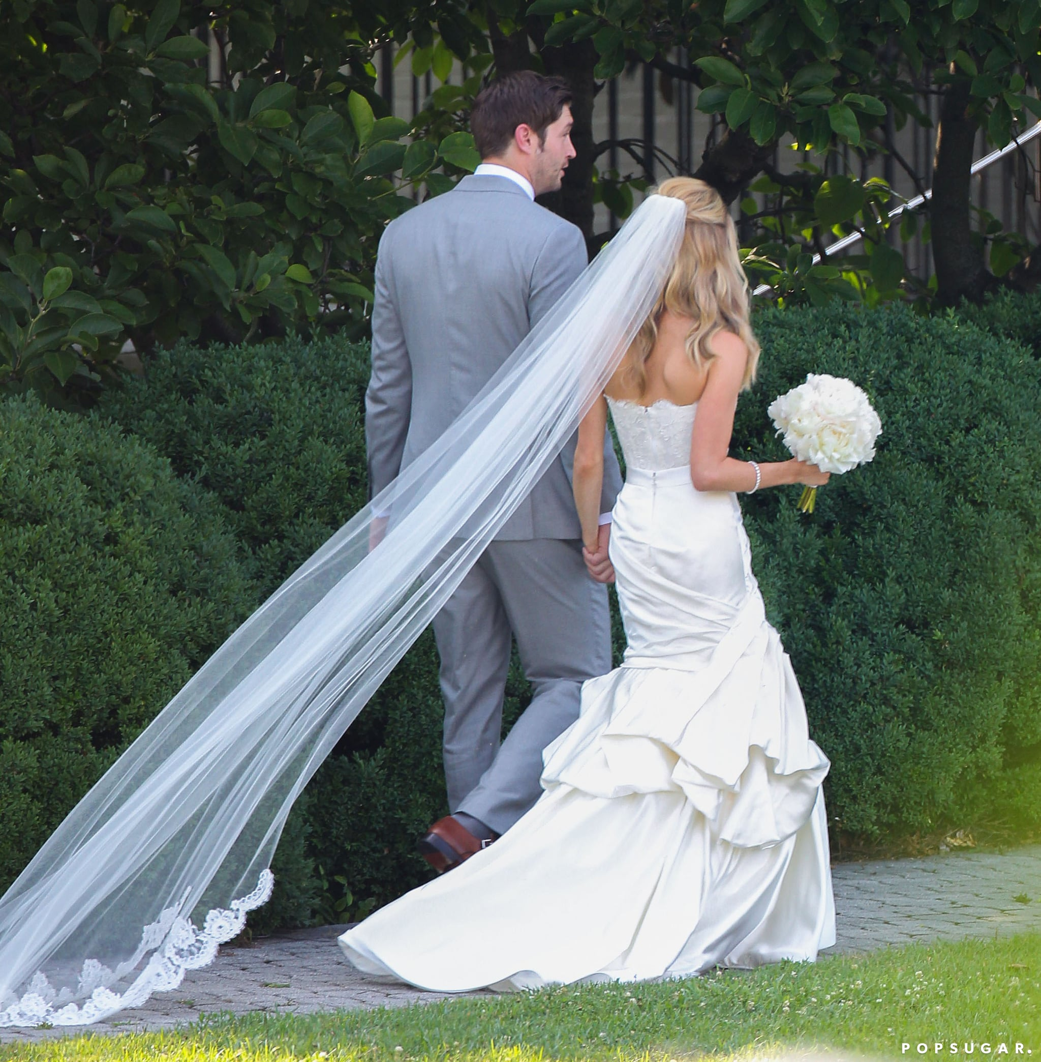 What an amazing shot! We're loving Kristin's strapless gown.