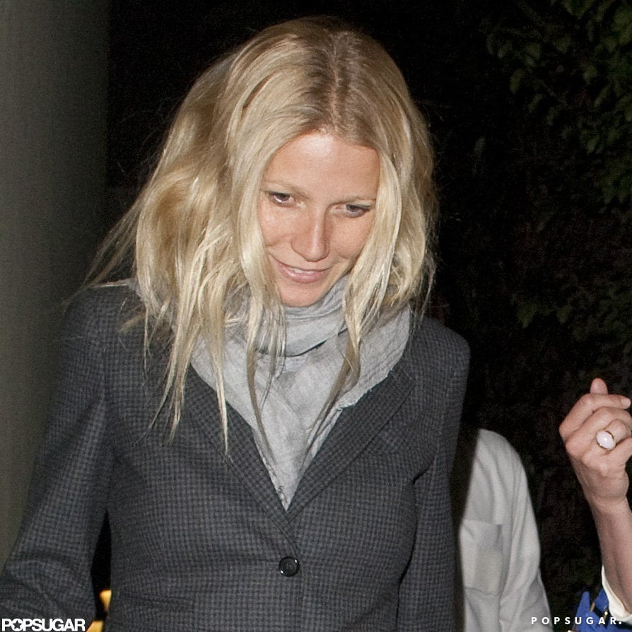 Gwyneth Paltrow went to dinner with Chris Martin and Cameron Diaz.