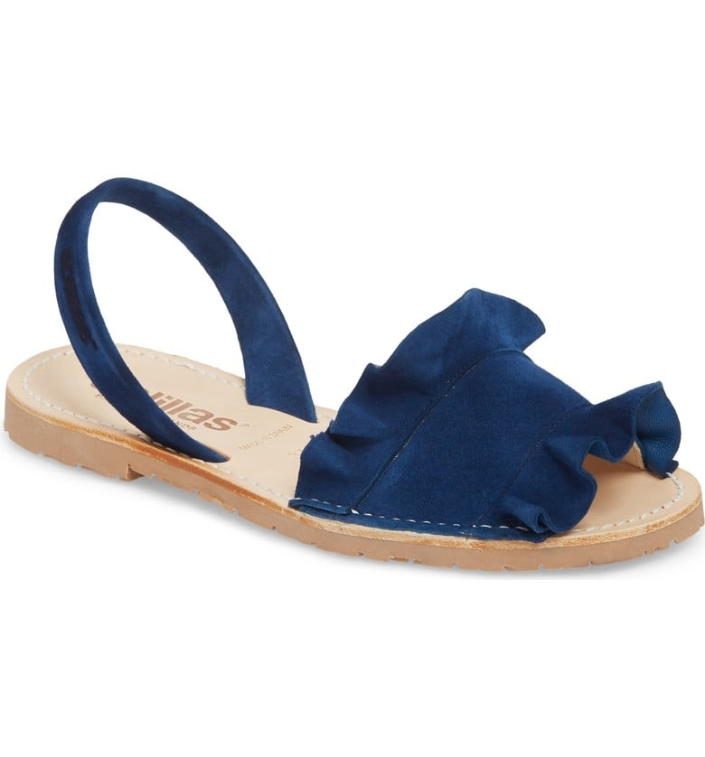 a786d2e4ec Solillas Frilled Flat Sandal | Cute Sandals 2018 | POPSUGAR Fashion ...
