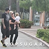 Pink and Carey Hart stopped for a drink at Starbucks.
