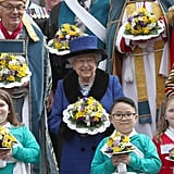 Queen Elizabeth II at Maundy Church Service March 2018