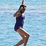 Rosario Dawson went for a swim in Cannes on Sunday.