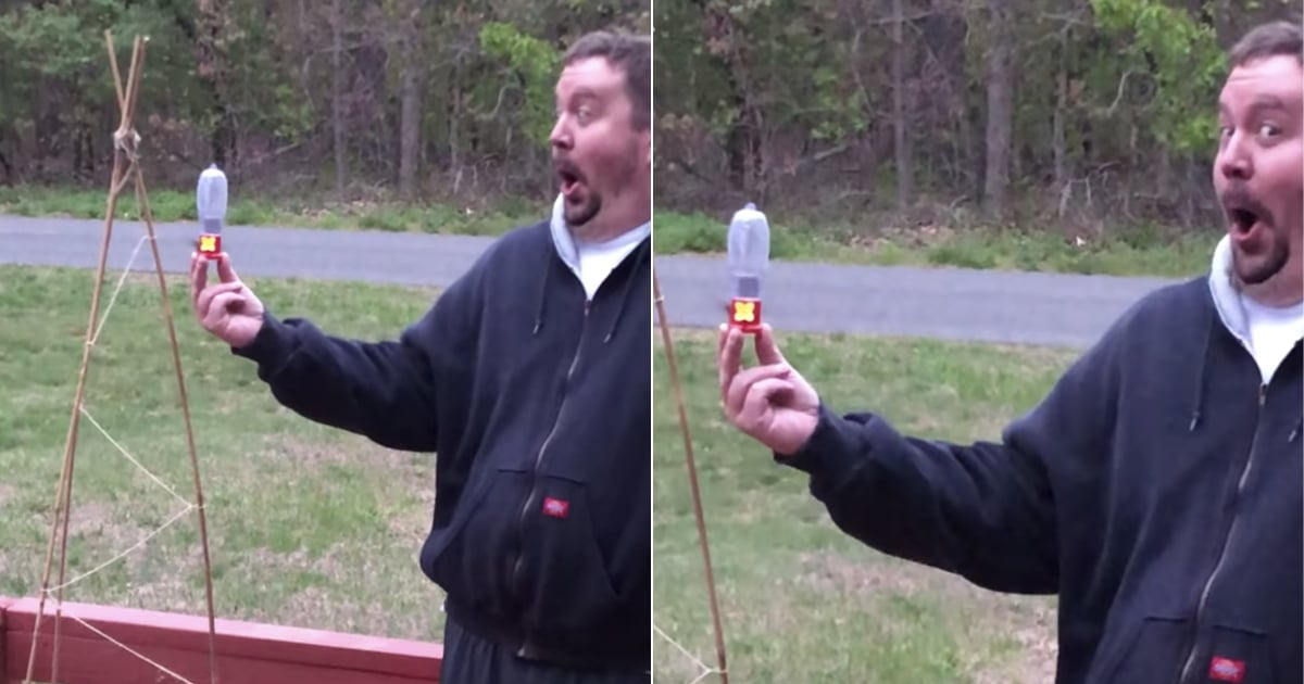 As a Hummingbird Feeds Out of His Hand, This Man's Face Radiates the Purest Joy