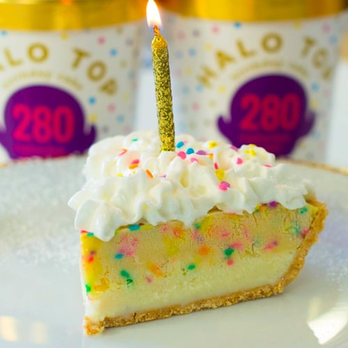 Halo Top Birthday Pie Recipe POPSUGAR Fitness