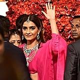 Sonam Kapoor Wore a Bright Pink Lehenga