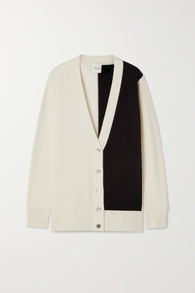 Madeleine Thompson Typhon Two-Tone Cashmere Cardigan