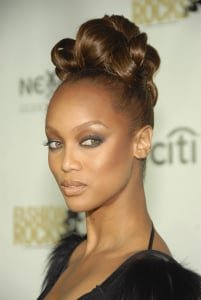 Love It or Hate It? Tyra's Fiercely Curled Updo