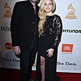 Avril Lavigne and Chad Kroeger at Grammys Party 2016