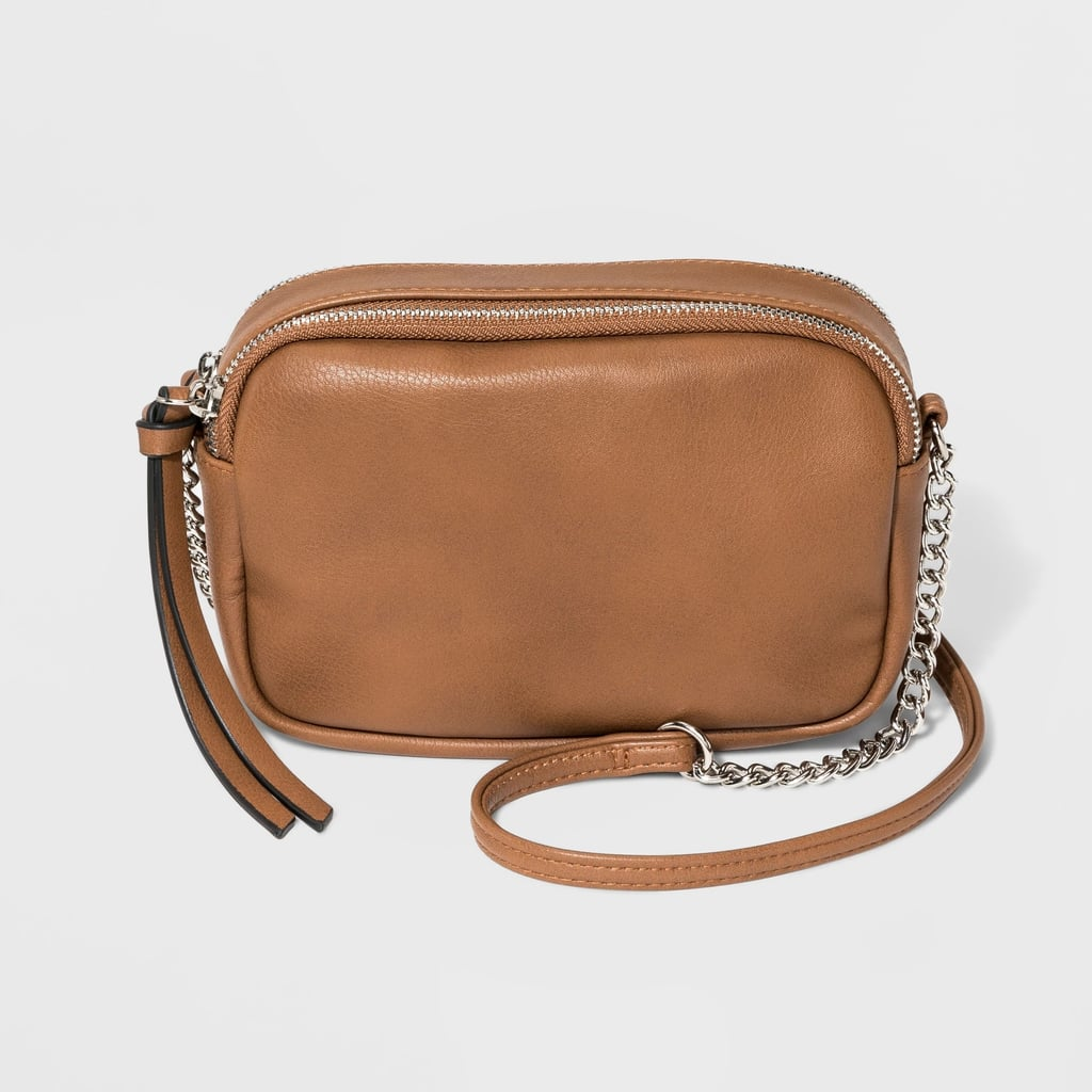 Zip Closure Crossbody Bag