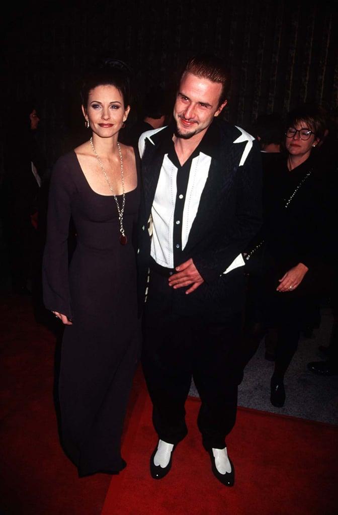 Courteney Cox and David Arquette in 1996