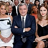 Jennifer Lawrence and Emma Watson at Dior Couture Show 2014