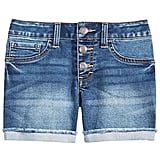 Vanilla Star Big Girls Marty Cuffed Denim Shorts