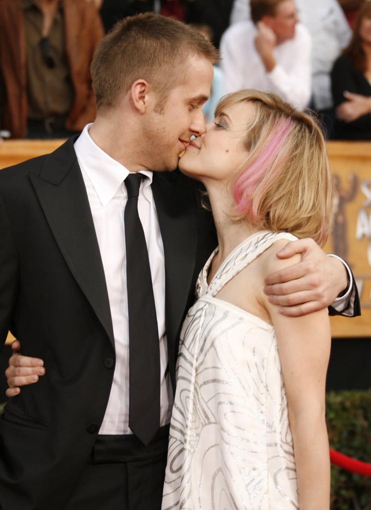 Rachel and Ryan kissed on the red carpet at the SAG Awards in 2007.
