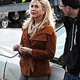 Jennifer Aniston shot scenes for an untitled project in Stamford, CT, Tuesday.