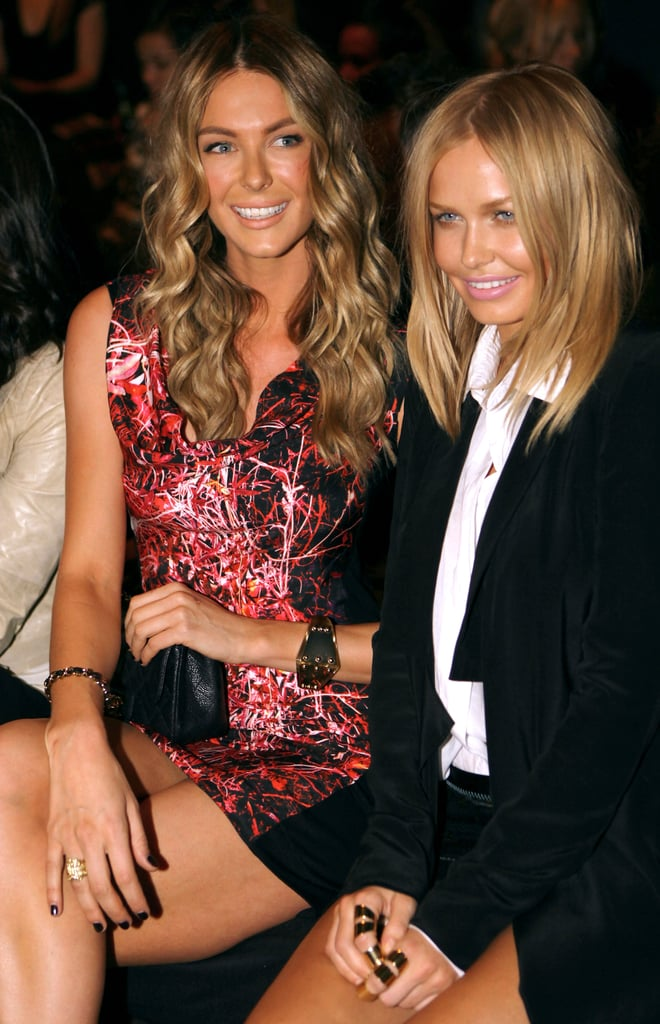 Jennifer Hawkins and Lara Bingle were seated next to each other at Fernando Frisoni in 2010.