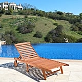 Malibu Brown Outdoor Wood Chaise Lounge