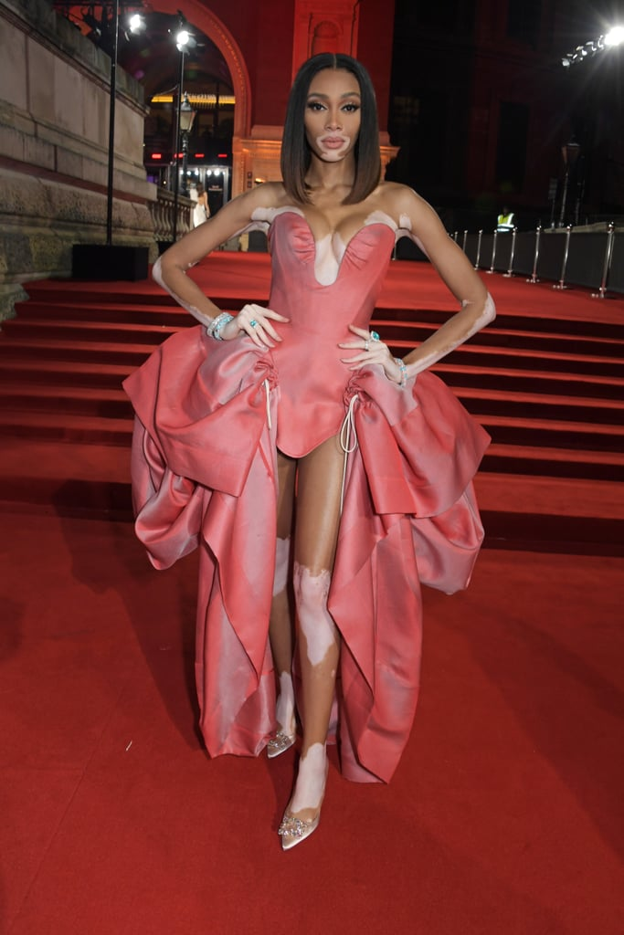 Winnie Harlow at the British Fashion Awards 2019 in London