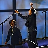 Paul McCartney performed at the end of the ceremonies.