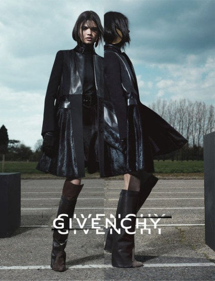 Givenchy's dark goth-inspired leather wares make for a striking Fall ad campaign.