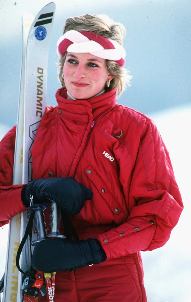 Check out the cool Winter headband on Diana while skiing ...