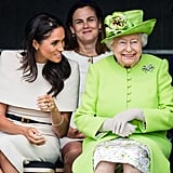 Meghan and Queen Elizabeth Chatting 2018