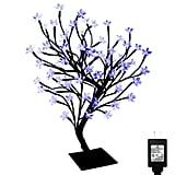 PMS 17 Inch 72 LEDs Cherry Blossom Desk Top Bonsai Tree Light