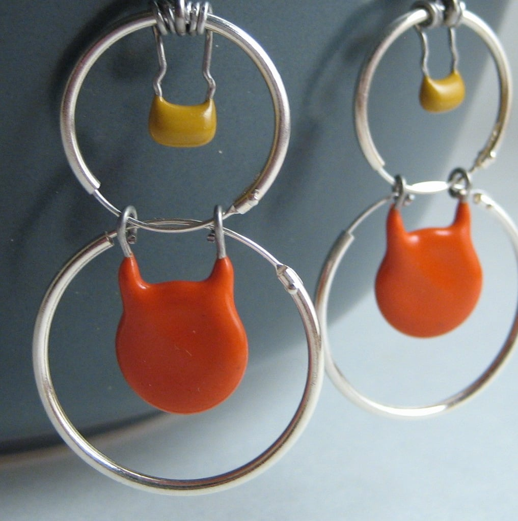 Recycled Capacitor Earrings