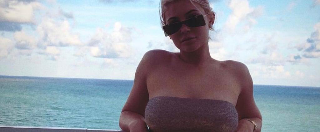 Kylie Jenner Silver Bikini September 2018