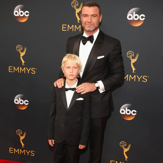 Liev Schreiber and Son at 2016 Emmys