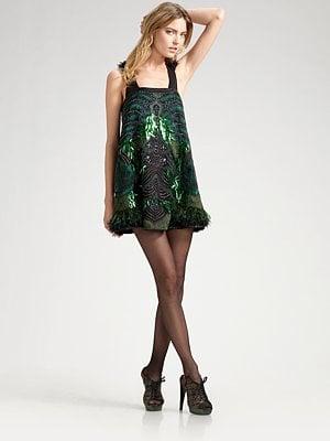 Proenza Schouler - Sequined & Feathered Silk Mini Dress - Saks.com $7,950