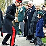 Prince Harry goofed around with a young fan while he visited the Field of Remembrance at Westminster Abbey in London in November.