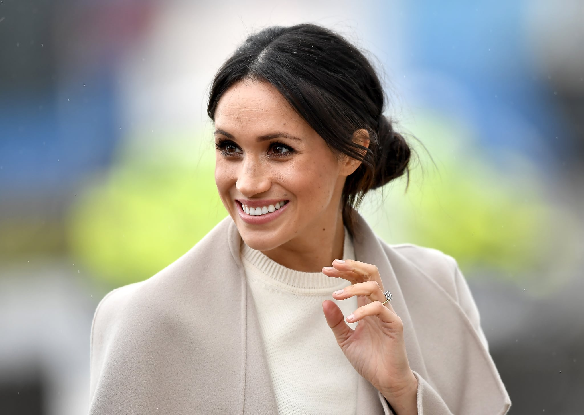 BELFAST, UNITED KINGDOM - MARCH 23:  Meghan Markle is seen ahead of her visit to the iconic Titanic Belfast during her trip with Prince Harry to Northern Ireland on March 23, 2018 in Belfast, Northern Ireland, United Kingdom.  (Photo by Charles McQuillan/Getty Images)