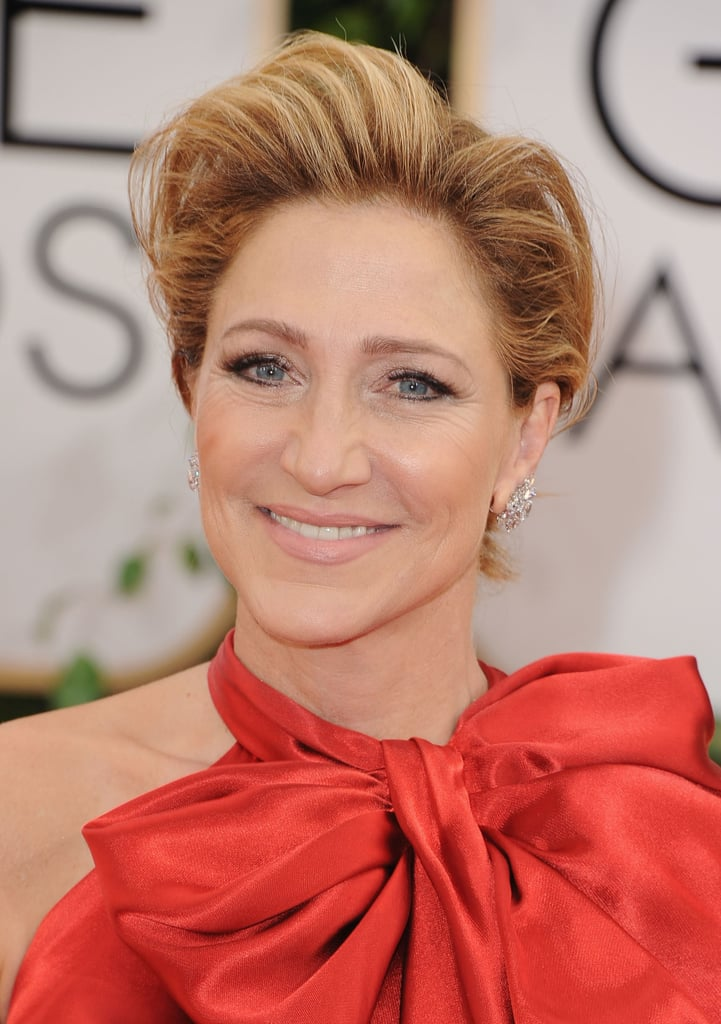 It was all about the hair for Edie Falco.