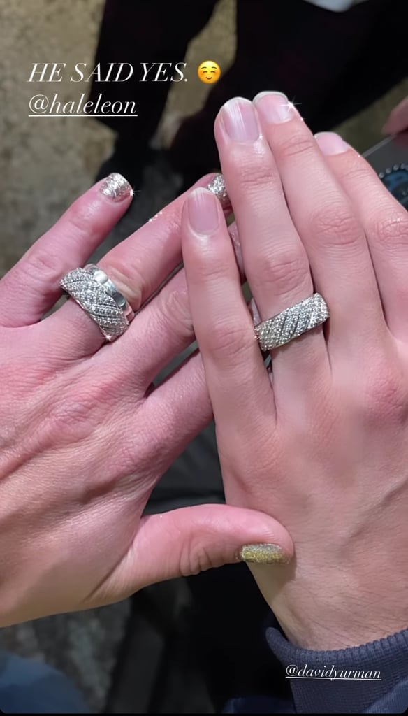 Frankie Grande and Hale Leon's Matching Engagement Rings