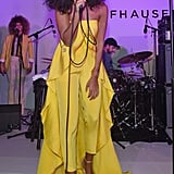 Solange Knowles performed at the Timeless Portofino event at Art Basel in Miami Beach, FL, on Wednesday.